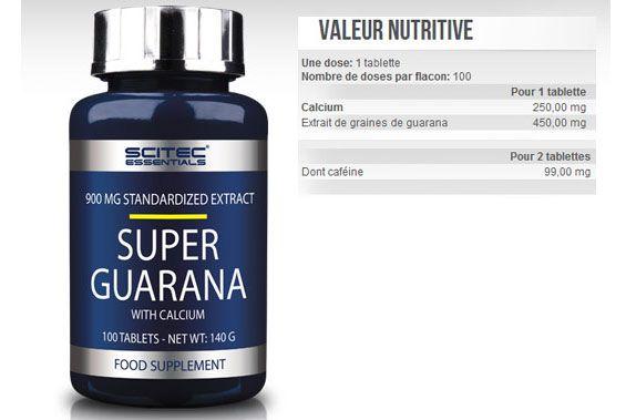 Guarana supplément